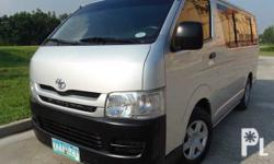 2009 Toyota Hiace Commuter M/T 1st Owned Very Fresh Well Maintained 2.5L D4D Diesel SRS Airbag Leather Interior Integrated Audio System CD MP3  Ready to Ride Must see Must have Price :PHP 130,000.00  Make:Toyota Model:Hiace Commuter Year:2009