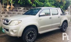 Toyota Hilux G 2009 Year 82,000 km mileage 2.5L Engine Diesel Fuel Manual transmission Air Conditioning Power Steering Leather Interior Air Bags Alarm AM/FM Radio CD Player Hilux G manual 2009, Air Conditioning, Power Steering, Remote Keyless Entry,