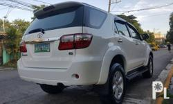 2011 Toyota Fortuner G a/t diesel 56tkm 2011 Toyota fortuner g 1st owned All original Excellent suspension Ice cold aircon Smooth shift  2.5d4d engine at its best Thick tires Fresh Leather interior Zero accident