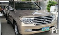 Toyota Land Cruiser vx 200 2011 Year 39,000 km mileage 4.2L Engine Diesel Fuel Automatic transmission 4x4 Air Conditioning Central Locking Immobilizer Electric Mirrors Power Steering Remote Car Starter Remote Keyless Entry Tilt / Telescopic Wheel Electric