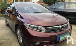 2012 Honda Civic FB (JAPAN LIMITED EDITION). Exi variant top of the line;  1.8 ivtec engine/fuel efficient;  Automatic trans/smooth shifting.  Casa maintained