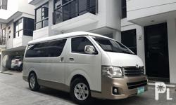 2012 Toyota Hiace Super grandia AT 1st owned new tires 52tkms captain seats tv all leather all original very fresh like new