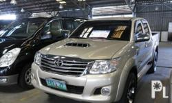 Toyota Hilux 2012 Year 21,000 km mileage 3.0L Engine Diesel Fuel Automatic transmission 4x4 All original, Tinted windows, 1st Owner, Rain gutters, Steps