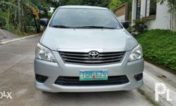 2012 Toyota Innova 2.5E diesel Automatic transmission 1st owned 72,261kms casa maintained with complete records newly serviced 3weeks ago complete manuals, service booklet, 3 orig keys, alarm keyless entry Pristine interior smells like new (non-smoker