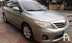 Toyota Corolla Altis G 2013 Year 57,000 km mileage 1.6L Engine Gas Fuel Automatic transmission Air Conditioning Power Steering Leather Interior Air Bags Alarm AM/FM Radio CD Player Supports MP3/WMA 2013 TOYOTA COROLLA ALTIS AUTOMATIC TRANSMISSION 1.6 Dual