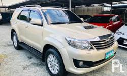2013 TOYOTA FORTUNER 3.0V A/T D4D TURBO DIESEL 4x4 - TOP OF THE LINE! SUPER FRESH! 52,000 Kms Only! Multiple Airconditioning System Climate Control Aircon! Super lamig! Original Keyless Entry Alarm. 2DIN / CD / MP3 / USB / AUX / iPOD Stereo PERFECT UNIT!