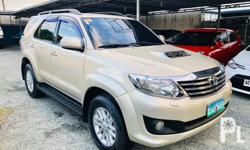 2013 TOYOTA FORTUNER 3.0V A/T D4D TURBO DIESEL 4x4 - TOP OF THE LINE!  SUPER FRESH! 52,000 Kms Only! Multiple Airconditioning System Climate Control Aircon! Super lamig! Original Keyless Entry Alarm. 2DIN / CD / MP3 / USB / AUX / iPOD Stereo  PERFECT