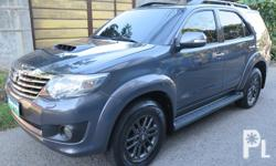 2013 Toyota Fortuner V 4x2 Diesel EngineAutomatic Transmission 7�Touch Screen Tv Monitor OriginalTv Headrest Back CameraColor Gray1st OwnerFresh In and Out43,000 Km Reading
