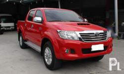 Toyota Hilux G 2013 Year 130,000 km mileage 0.0L Engine Diesel Fuel Automatic transmission 4x4 Aircon Airbags Power steering Electric windows Central lock In excellent condition, not flooded, no car accident history, 100% clean papers