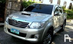 2013 Toyota Hilux G 4x4 AT Silky Gold factory color 38tkms. mileage only automatic transmission leather seat covers