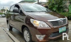 Toyota Innova E 2013 Year 71,000 km mileage 2.5L Engine Diesel Fuel Manual transmission Air Conditioning Power Steering Remote Keyless Entry Sunroof Leather Interior Air Bags Alarm AM/FM Radio CD Player Supports MP3/WMA This Innova is in excellent