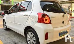 2013 Toyota Yaris 1.5 A/T RS 1.5 VVT-I Engine Very Fuel Efficient Color: Freedom White All power Audio steering Control Red stiches steering/shiftknob Thick Tires  33.+++km mileage Complete Legal Papers Registered 2017-2018