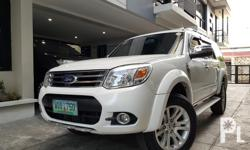 2014 Ford Everest limited  Automatic transmission 2.5L diesel engine 1st owned 50tkms leather interior original paint flawless no dents and scratch with 3rd row seats full 3m tint all stock all original very fresh like new