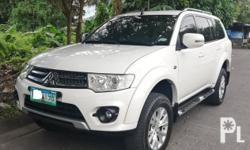 Mitsubishi Montero GLX 2014 Year 52,000 km mileage 2.5L Engine Diesel Fuel Manual transmission Air Conditioning Power Steering Remote Keyless Entry Leather Interior Air Bags Alarm Anti-Lock Brakes (ABS) Fog Lights AM/FM Radio CD Player Supports MP3/WMA