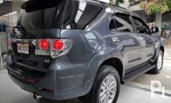 2014 Model Fortuner 2.5V 4x2 Diesel GPS navi Oem leather seats intact HID lights Washer wiper headlights A/T Transmission Metallic Gray Original Paint 100% 54T kms Mileage Casa Maintained Casa Records Thick Tires Reserved tire unused Reg 2018-2019