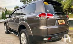 2015 Mitsubishi Montero Sport GLS V SE Special Edition (Last Batch) Variable Geometry Turbo (VGT) Diesel  Good as New! Color: Quarts Brown 35,+++km Mileage Automatic with Sports Mode  Paddleshift +/- GPS/USB/ with Reverse back up Camera With OEM Sunroof