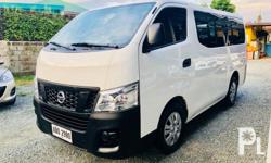 2015 NISSAN URVAN NV350 SHUTTLE 2.5L Diesel TURBO M/T  MAKINIS PO! 42,000 kms Binili lang nuong April 2016! Very Fresh Interior Very Cool Multiple Aircon CD, MP3, USB, AUX, iPOD Stereo  PERFECT CONDITION! Perfect Powerful Engine Perfect Smooth shifting