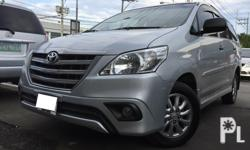 2015 Toyota Innova for sale 1st Owner With Complete Casa Records (Toyota Dealer Verified) Mileage 120k kms only! Color Silver - Original Paint Keyless Entry with Spare Keys Back up Sensor Alphard Grill Roof Rail Side Skirt Spoiler Body Cludding All Stock
