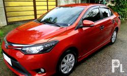 2015 Toyota Vios 1.5G TRD Automatic TransmissionTop of the LineColor Orange Metallic35,000 Km Reading Newly Change OilNew Set Of TireExcellent Engine ConditionAll OriginalStrong Air conFuel EfficientWell maintainedMust See To Appreciate