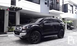 2016 Ford Everest ambiente A/T Diesel 2.2L 6speed automatic 3m tint 3m matting new 20s mags and tires Black All original H.I.D headlights and fog lamps comprehensive insurance like brandnew