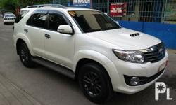 2016 Toyota Fortuner V 4x2 Matic Diesel Make:Toyota Model:Fortuner V Year:2016 Color:White Engine Type:Diesel Transmission:Automatic Condition:Used
