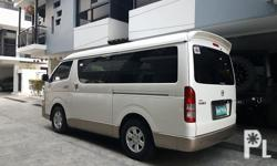 2016 Toyota Hiace Super grandia AT 1st owned new tires Diesel captain seats tv all leather all original very fresh like new