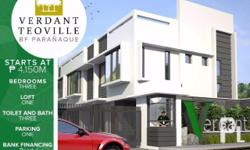 BRAND NEW TOWNHOUSE in BF PARA��AQUE! PRIME LOCATION 500 meters away from SM BF PARANAQUE! Location: LOURDES ST., TEOVILLE, Paranaque city! Pre-selling starts at 4.150m only! Gated Community with CCTV 20% DP payable in 12 months 80% balance either Cash or
