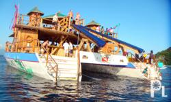 NAME: Krystal's Liki Tiki Make: Island Original Marine ply and fiber hulls inside and out Operates like a new yacht or cruise ship Bonus: Includes 18 foot coveredservicetenderwith new 15 hp mercury outward with lights and sound system Six separate sealed