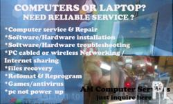 =Hard drive Reformatting / Operating System repair and installation (additional 100.00 if drive needs to back-up) 450.00 per hard drive =PC cabled or wireless Networking / Internet sharing (Network cables and devices not included) 700 per computer for