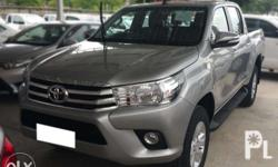 FOR ASSUME/TRADE Hilux Revo 2.8 Diesel 4x4 Manual Trans. 2016 Model Color Silver All Stock Brandnew Condition Bank - East West Bank Monthly Ammort. - P 32,485.00 Assume Price - P 485k Neg.