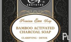 "Deskripsiyon BAMBOO ACTIVATED CHARCOAL PREMIUM EMU SOAP Much more superior than your regular soap. Harness the beauty benefits of activated charcoal. Its medicinal value to ""adsorb not absorb"" impurities to itself dates back since ancient Egyptian times."