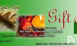 """BANAHAW HEALS SPA ==GIFT CERTIFICATE AVAILABLE FOR YOUR LOVES ONE....WE HAVE BUY AND 1 CHRISTMAS PROMO ALSO.. BANAHAW HEALS SPA """"PROVIDING EXCELENCE TO OUR GUEST WITH UNIQUE QUALITY OF PERSONAL CARE... """"REVEAL THE DIFFERENCE"""" THAT WILL CAPTURED YOUR"""