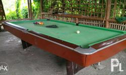 For sale. Billiard table. Excellent condition.. Complete set.. good for money game.. value for money. Rush sale!!