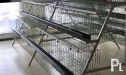 For sale chicken layer cages SET (with stand, nipple drinkers, water lines, feeding through, plier and others) All you need is chicken and feeds. It can house 96 birds. 3 tier. Cold galvanized and hot dipped available. Up to 10 years life span or more.