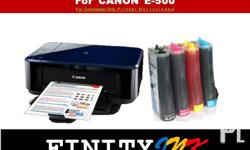 We Install/Convert Continous Ink System for (CANON E500 PRINTER) CISS KIT Compatible to the FF. Printer/Cartridges IP-Series: ip1200, ip1300.Cart no.(PG40.CL41) ip1980, ip1880.Cart no.(PG830.CL831) ip2770, ip2772.Cart no.(PG810.CL811) MP-Series mp145,