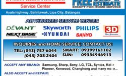 Deskripsiyon WE REPAIR ANY BRAND OF ELECTRONICS and HOME APPLIANCES: LCD/LED TV PLASMA TV PROJECTION TV CRT TV PORTABLE DVD DVD/BLU RAY PLAYERS HOME THEATER SYSTEM MINI HI-FI COMPONENT AMPLIFIER WASHING MACHINE MICROWAVE OVEN AND OTHER ELECTRONICS and