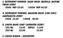 Are you interested to make your own brand of soaps/dishwashing liquid/detergent powder/fabric conditioner and other household products? We sell Ready to Mix BFAD approved Soap Making Materials. SMS 09298588748/EMAIL uniloadcdo@yahoo.com :)