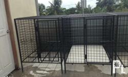 This is a heavy duty dog cage suitable for large breed dogs. Has a steel matting and free 4 pieces white matting. Each cage costs Php 4,500. This is for pick up only. For faster transaction please contact this number. Dimensions: L x W x H (cm) 90.8cm x
