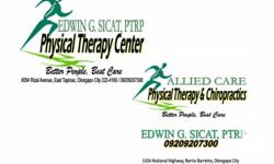 EDWIN G. SICAT, P.T.R.P. PHYSICAL THERAPY CENTER was established in 2005 with a vision: Better People, Best Care -- inspired with the ?Goal of Physical Therapy to help the patient reach his maximum potential and to assume his due place in society while