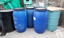 Selling empty plastic drums with 170 liters or 200 liters capacity. Price: Php 1200 - 170 liters (with cover) Php 1500 - 200 liters (with cover) Php 700 - Metal Drums