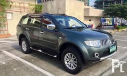 Mitsubishi Montero GLS 2009 Year 81,000 km mileage 2.5L Engine Diesel Fuel Automatic transmission Air Conditioning Cruise Control Central Locking Power Steering Remote Keyless Entry Leather Interior Air Bags Alarm Anti-Lock Brakes (ABS) AM/FM Radio CD