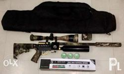 """available po hanggat naka post:) For sale JAVA Pro indonesian made pcp side lever multishot compact model almost brandnew Lothar walter .177 barrel 13.5"""" lenght Taiwan 18ci bottle tank Shrouded barrel Tornation made silencer Leapers scope 4-16x50 AO with"""
