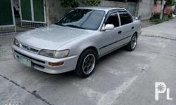 Toyota corolla bigbody xe 1997 2e engine super tipid Power steering Lara body Walang bulok Shiny paint Walang kalampag Walang overHeat Ice cold aircon Siding very intact Orig seats Fresh in and out Spoiler Pioneer cd usb aux Newly change oil Mags 15 with