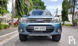 Ford Everest 2014 Variant: 2.5 TDI 4x2 Limited Milage: 38,000 KM Transmission: Automatic Engine Condition: 10/10 Exterior Condition: 10/10 Interior Condition: 10/10 Tires: 80% Fuel: Diesel 100% Flood free 100% Accident free All Original Complete papers
