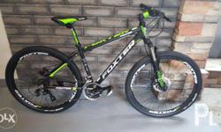 FOXTER 27.5 Mountain bike FT302 w/ new reinforced Fork & Alloy Crank Shimano tourney 3x8 speed Disc brakes / Square pads already no need to throw away your caliper Lock out Fork / available Matt Black Green / Red / Orange 7 2 2 5 6 3 9 / 10am -7pm 21