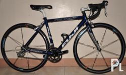 """SIZES XS/S (46cm), COLOR(S) Dark Blue MAIN FRAME A2-SL custom-butted alloy, integrated 1 1/4"""" lower head tube, oversized 34.9mm seat tube & standard BB shell, double water bottle mounts REAR TRIANGLE A2-SL alloy chainstays, forged road dropout w/"""