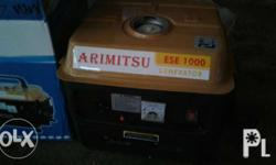 Generator for sale: Arimitsu Brand. Japan quality. Pure copper. Available wattage: 1000 watts 1500 watts 1800 watts 3000 watts 5500 watts 6500 watts Ligitimate seller: can claim warranty Visit: JBO STEEL CONSTRUCTION AND MARKETING 155 kentz mkt. Bldg.