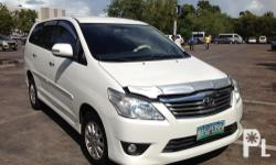 My Toyota Innova G 2012 model MPV alt SUV  2..5L D4D Diesel engine Automatic transmission All power Central locking system For registration this month Cool dual air con Excellent condition