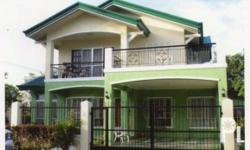 A beautiful two storey House and Lot in Villa Josefina Resort at Dumoy Toril Davao City. It has a lot area of 288 sqm. ,floor area of 405 sqm., four bedrooms and 4 toilets and baths , a garage than can accommodate two cars and a lawn area with lush green