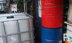 IBC containers, Drums, and Tote Bin for sale for a cheap price; Fixed Price Stocks are limited, first come, first serve, 2nd hand but still on a good condition, Good as new po itong mga to. Perfect for storage of any liquid. Malinis, gagamitin na lang